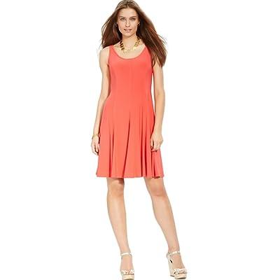 Lauren Ralph Lauren Women's Sleeveless Scoop-Neck Seamed Flare Dress