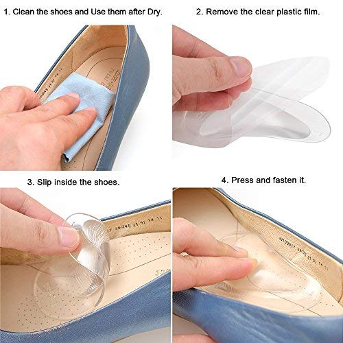 Dr. Foot\'s Arch Support Insoles for Flat Feet, Plantar Fasciitis, Relieve Pain for Women and Men - 4pcs