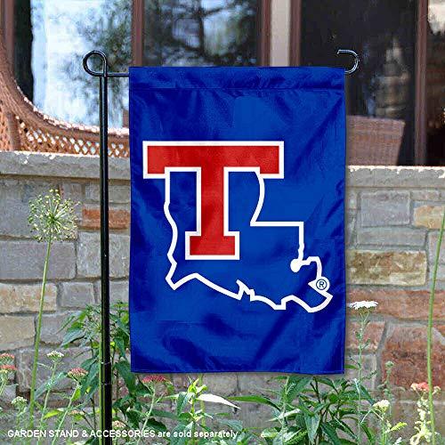 (College Flags and Banners Co. Louisiana Tech Bulldogs New Logo Garden Flag )
