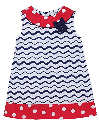Polka Dot Bow Dress - A-line Polka Dot Bow Dress Red (Red Polka Dot, 12-18M)
