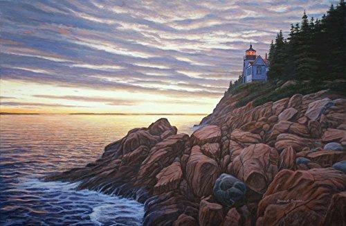 Bass Harbor Light by Bruce Dumas Art Print, 15 x 10 inches