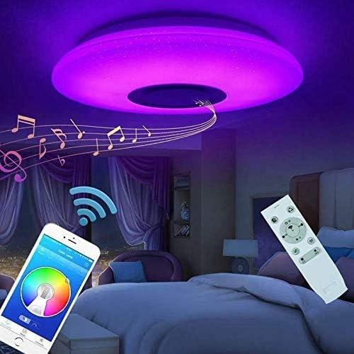 csdj Luz De Techo LED, Música Inteligente Luces De Techo LED RGB ...