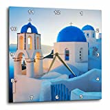 3dRose dpp_149764_2 Greece, Santorini, Church Domes, Greek Architecture Wall Clock, 13 by 13-Inch Review