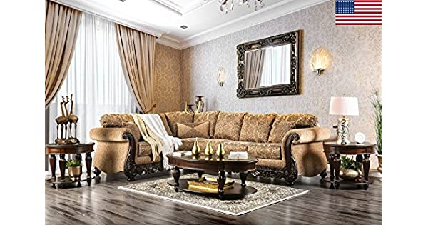 2 Accent Chairs And A Tv And Sectional.Amazon Com Esofastore Formal Traditional Living Room Sectional Sofa