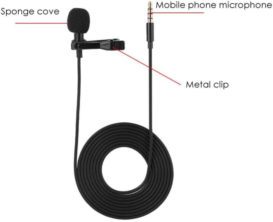 Color Black Tetra-Teknica Essentials Series Lavalier Lapel Clip-on Omni-directional Microphone
