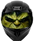V10 Hulk VISOR TINT DECAL Graphic Sticker Helmet Fits: Icon Shoei Bell HJC Oneal Scorpion AGV