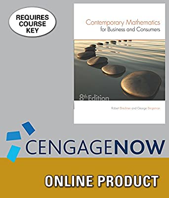 CengageNOW for Brechner/Bergeman's Contemporary Mathematics for Business & Consumers, 8th Edition