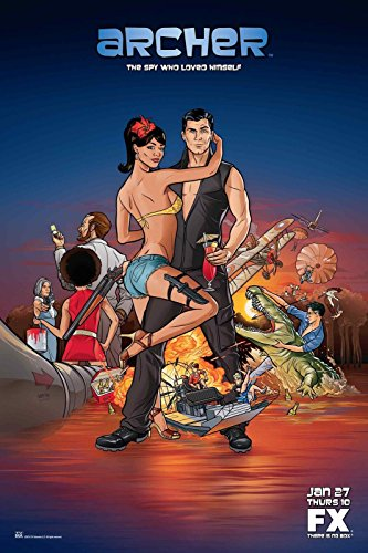 ARCHER TV Show Poster FX Adult Swim 24x36inch