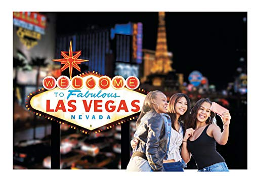 Welcome To Las Vegas Scene Casino Backdrop Banner Decoration Photo Booth (3pcs) ()