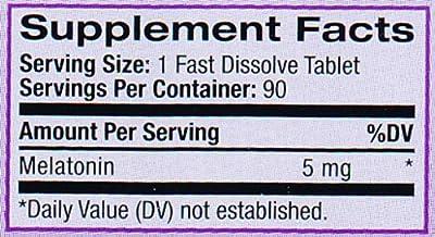 Natrol Melatonin Fast Dissolve Strawberry Tablets, 5mg, 90 count