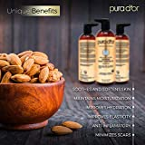 PURA D'OR Organic Sweet Almond Oil (16oz) Certified Organic 100% Pure & Natural Hexane Free Soothing Vitamin E Oil for Skin & Face, Facial Polish, Full Body, Massages, DIY Base