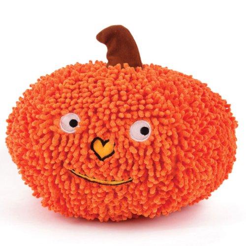 Grriggles Gruntin' Moppy Fabric Pumpkin Dog Toy, Large, Orange