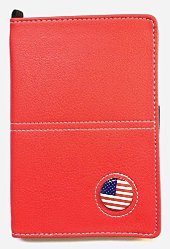 Golf Scorecard Yardage Book Holder Wallet Synthetic Leather With Magnetic USA Flag Ball Marker (Scorecard Wallet)