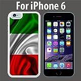 Red White Green Italian Italy Flag Custom Case/ Cover/Skin *NEW* Case for Apple iPhone 6 - White - Rubber Case (Ships from CA) Custom Protective Case , Design Case-ATT Verizon T-mobile Sprint ,Friendly Packaging - Slim Case