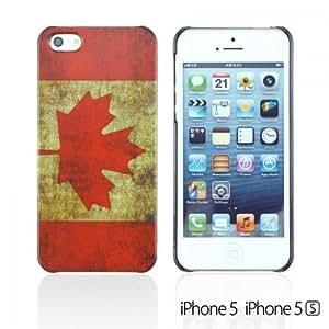 OnlineBestDigital - Vintage National Flag Hard Back Case for Apple iPhone 5S / Apple iPhone 5 - Canada