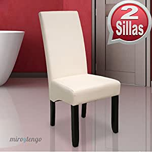 Pack de 2 sillas osaka blancas de sal n comedor de for Sillas salon modernas