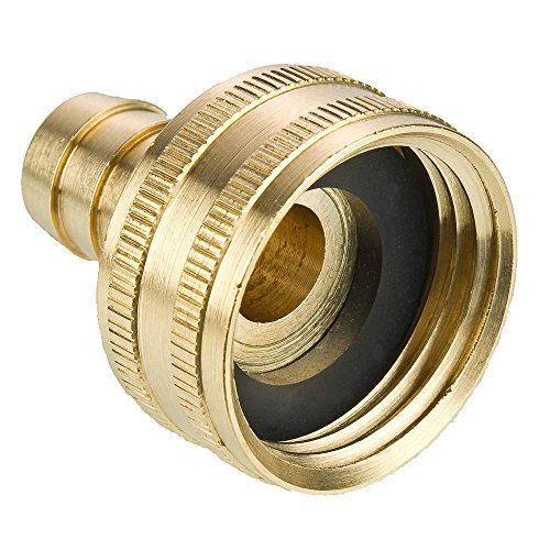 Barb Thread (Parker 90GH-12-4 Garden Hose Fitting, Swivel Female Garden Hose to Hose Barb, Brass, Hose Thread and Hose Barb Swivel Connector, 3/4