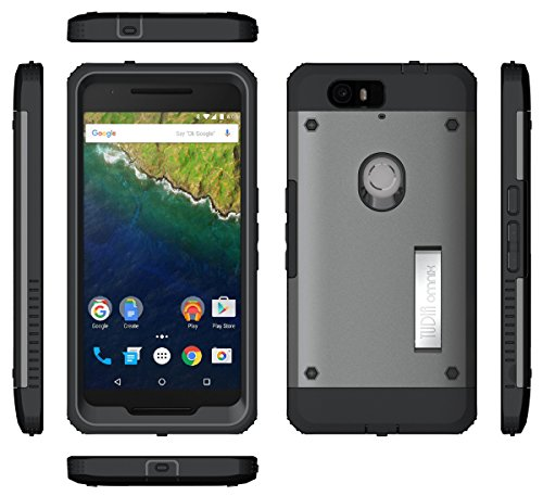 Nexus 6p Case Tudia Ultra Tough Omnix Heavy Duty Hybrid Full Body Protective Case With Front