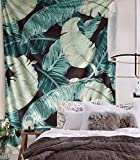 Flber Banana Leaf Wall Tapestry Home Decor,60''x 80'',Twin Size (Banana)