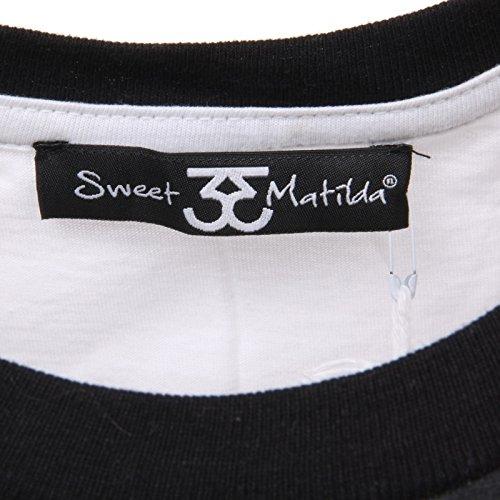 Bianco T C4686 Sweet shirt Sleeveless Canotta Donna Matilda Woman wqxInxUpF