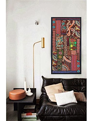 Patchwork Hanging (wall art Tapestry Antique Handmade Embroidered Patchwork Vintage Wall Hanging)