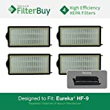 60285 eureka - 4 - Eureka HF-9 (HF9) HEPA Replacement Filters, Part #'s 60951, 60951A, 60951B, 60285. Designed by FilterBuy to fit Eureka Victory Upright Vacuum Cleaners.