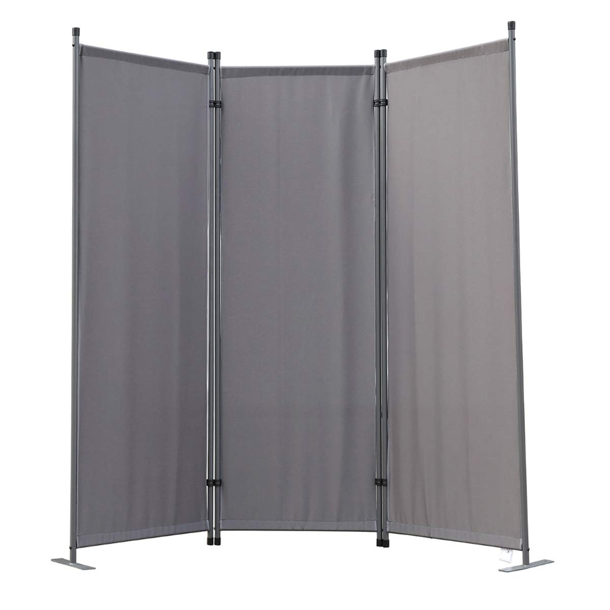 Angel Living Protective Screens Room Divider Screen Panel Folding Room Partition Wall Furniture Outdoor Screens for Patio Privacy (3-piece 169x165cm, Grey)