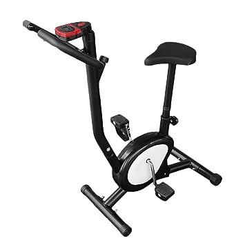 Fitness Bicicleta cartk Nights doméstica bicicleta estática Fitness – Bicicleta elíptica con respaldo Monitor LCD Sport