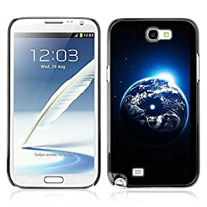Graphic4You Artistic View Of Earth From Space Design Hard Case Cover for Samsung Galaxy Note 2 Note II