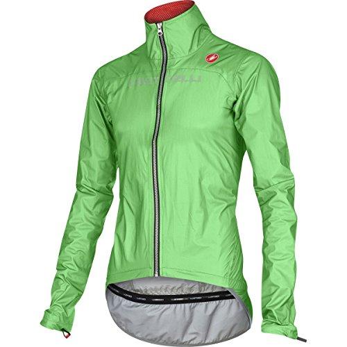 Castelli Tempesta Race Jacket - Men's Green Fluo, XL