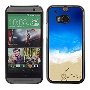 Graphic4You Love In Beach Design Hard Case Cover for HTC One (M8)