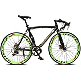 Road Bike Cycling 14 Speed 26 Inch/700CC 50mm Men's Women's Unisex Adult SHIMANO TX30 Double Disc Brake Ordinary Monocoque