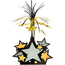 Star Centerpiece (black, gold, silver) Party Accessory  (1 count) (1/Pkg)