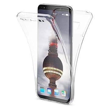 NALIA Funda 360 Grados Compatible con Samsung Galaxy S8 Plus, Delantera Trasera Protectora Movil Silicona Carcasa, Ultra-Fina Transparente Doble ...