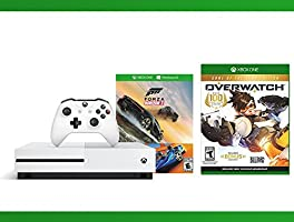Xbox One S 500GB Console - Forza Horizon 3 Hot Wheels Console Bundle + Overwatch - Game of the Year Edition + NBA 2K17 Bundle ( 3 - Items )
