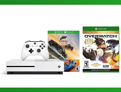 Xbox One S 500GB Console – Forza Horizon 3 Hot Wheels Console Bundle + Overwatch – Game of the Year Edition + WWE 2K16 Bundle ( 3 – Items )