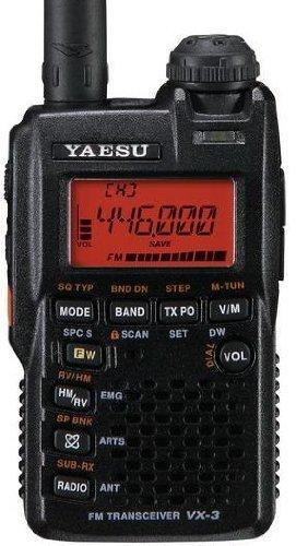 Yaesu VX-3R VHF/UHF DualBand Handheld Amateur HAM Radio Tranceiver!