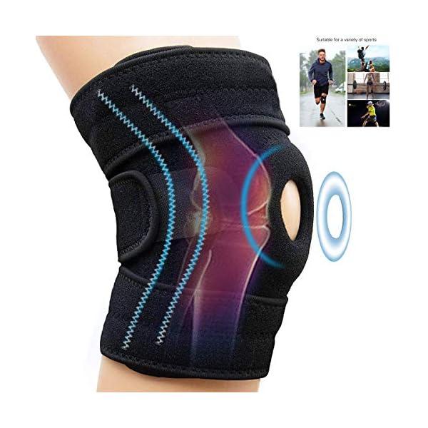 AINOLAN Genouillère Attelle de Genou Support Course Jogging Exercice Ajustable Unisexe – Souple et Respirante…