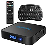 Android 6.0 TV Box, Gmall X1 4K Quad-Core Smart TV Box with Wireless Qwerty Keyboard and Bluetooth 4.0, 64 Bits Amlogic S905X Chip