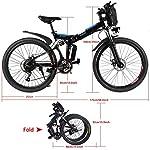 ANCHEER-26-Bicicletta-elettrica-pieghevole-Mountain-bike-elettrica-e-bike-36V8Ah-Batteria-al-litio-rimovibileSedile-e-maniglia-regolabiliCarico-massimo-120-kg