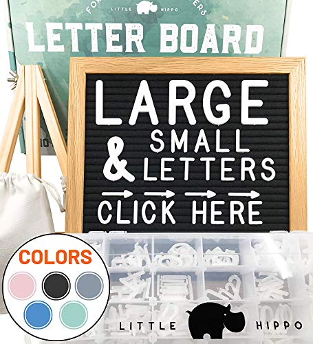 Announcement Letter - Felt Letter Board 10x10 | +690 PRE-Cut Letters +Stand +Sorting Tray | (Black) Letter Board with Letters, Letters Board, Letter Boards, letterboard, Word Board, Message Board, Letter Sign, Changeable