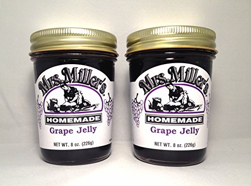 Mrs. Miller's Grape Jelly 8 oz. - Pack of 2 (Boxed) by Mrs. Miller's