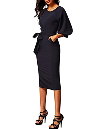 ffd6409e5a9 Aimur Professional Womens Clothing Business Professional Dresses With  Sleeves Knee Length