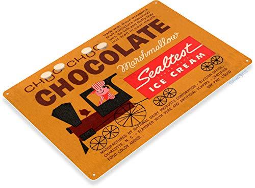 Tinworld Tin Sign Sealest Chocolate Marshmallow Retro Ice Cream Store Metal Sign Decor Parlor Kitchen Cottage B456