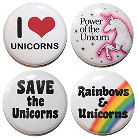 I LOVE UNICORNS Button Badges (25mm/1 Inch) MADE IN UK – By BUTTON ZOMBIE 51gcVlKc9ZL
