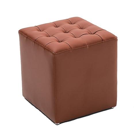 Admirable Amazon Com Bjlwtq Footstool Upholstered Leather Ottoman Evergreenethics Interior Chair Design Evergreenethicsorg