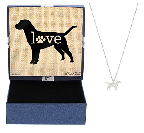 Pug Necklace - Mother's Day Gifts Labrador Love Dog Breed Silhouette Dog Paw Heart Necklace Jewelry Labrador Necklace Gift for Labrador Owner Mothers Day Gift Idea For A Rescue Dog Mom