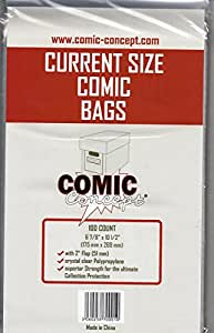 Comic Bags Current Size (100 ct.)