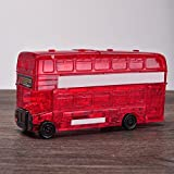 Jesse Puzzle Blocks 3D Crystal Bus Creative Learning DIY Hand Toy for Adults Kids Women Men Boys Girls Red