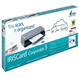IRISCard Corporate 5Nube Portable Business Card Scanner, Negro, Gris